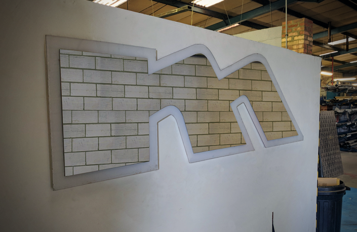 Custom Made - Logo Mirror - Metro Ltd.